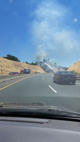 Fire outside Cloverdale, photos from reader Ryan Ballou.