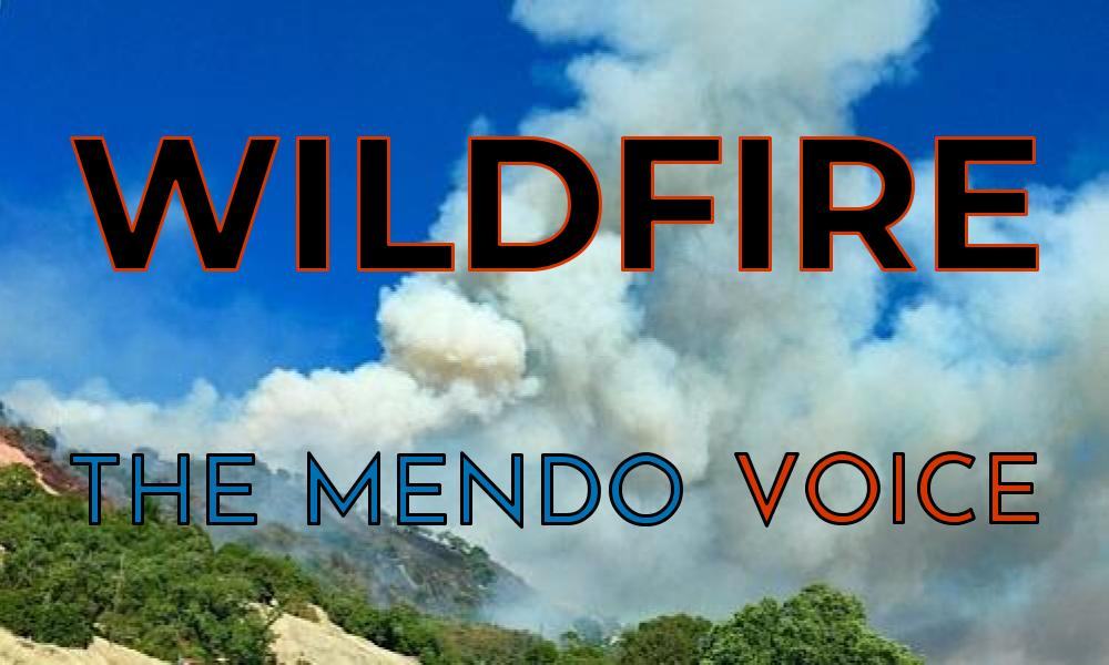 Mendocino Voice wildfire graphic