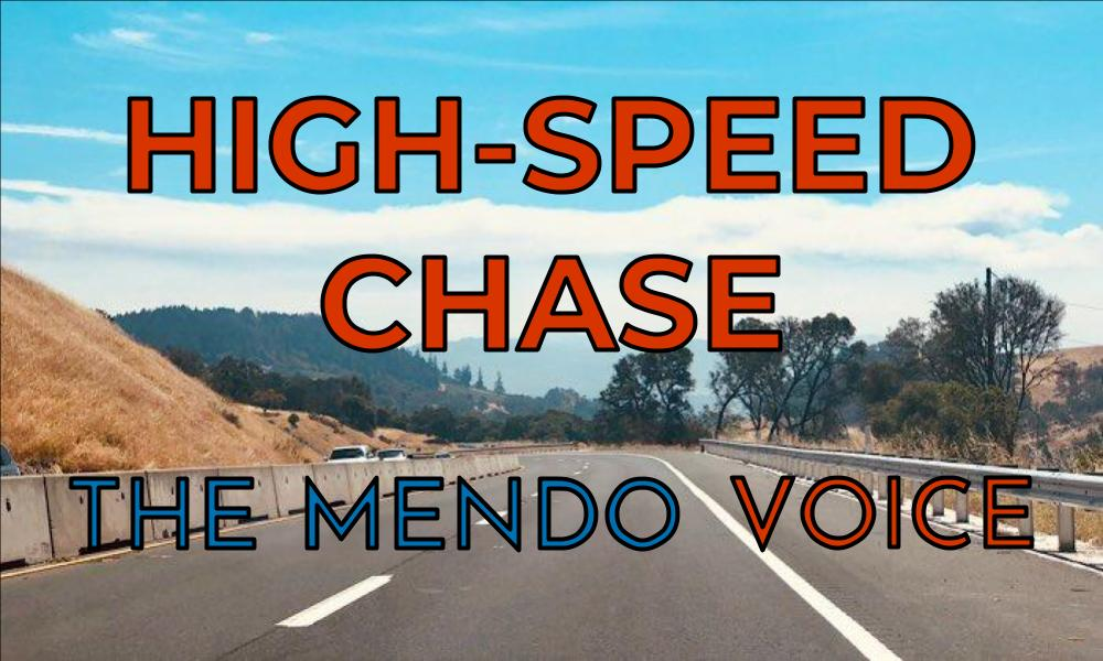 Mendocino Voice high-speed chase graphic
