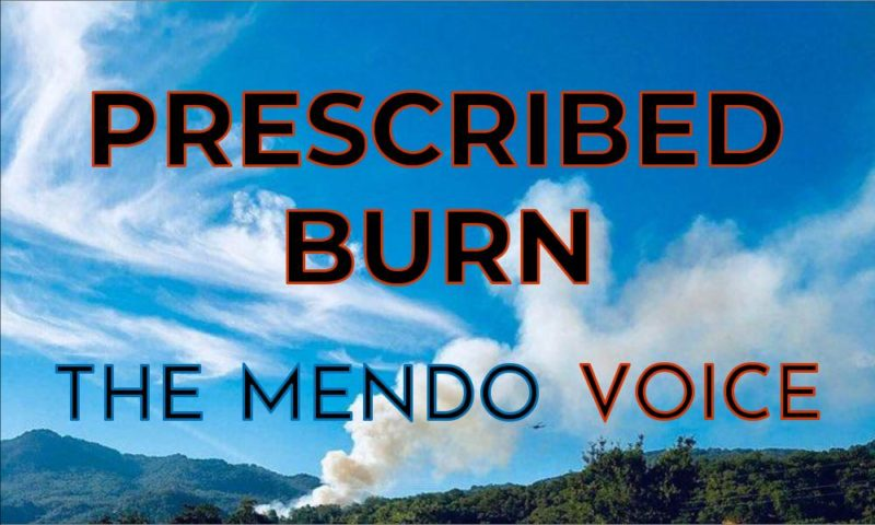 Mendocino Voice prescribed burn logo
